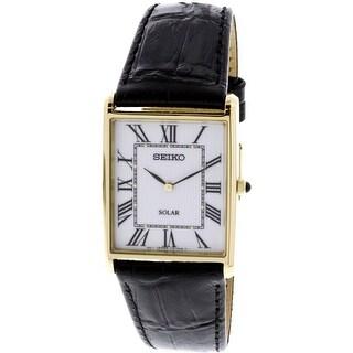 Seiko SUP880 Gold Leather Japanese Quartz Fashion Watch