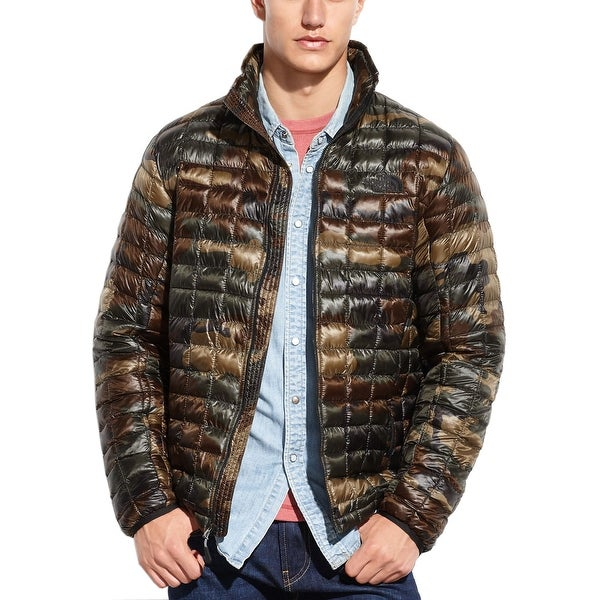 Shop The North Face Thermoball Brown Camouflage Lightweight Quilted