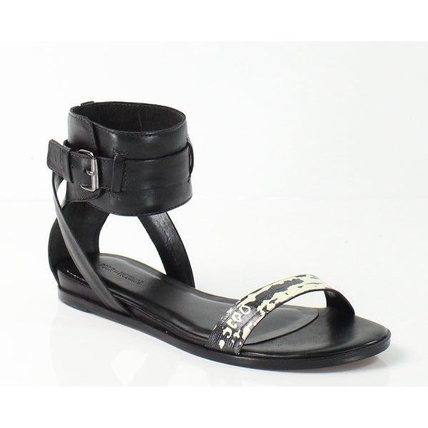 Pour La Victoire NEW Black Women's Shoes 7.5M Riko Python Sandal