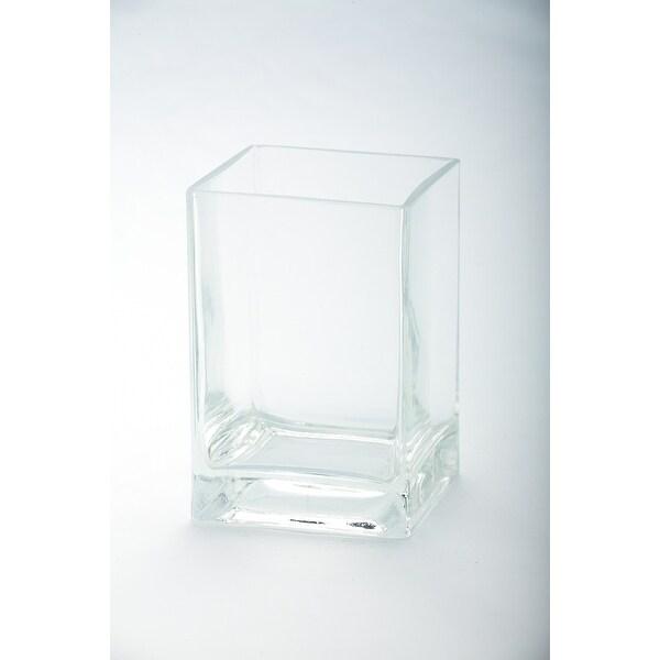 "6"" Transparent Clear Glass Pillar Candle Holder - N/A"