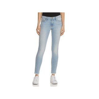 Frame Denim Womens De Jeanne Skinny Jeans Denim Released Hem