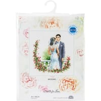 """Wedding Counted Cross Stitch Kit-6.25""""X6.25"""" 14 Count"""