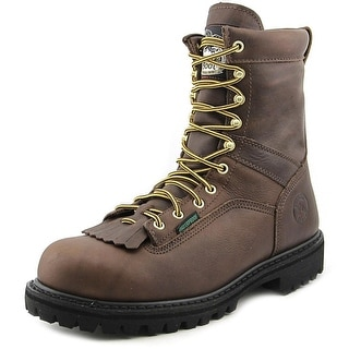 "Georgia Boot 8"" Logger Men W Round Toe Leather Work Boot"