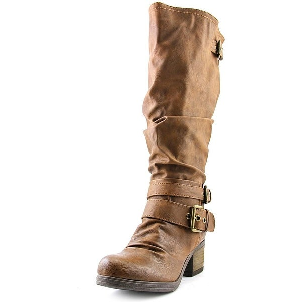 Carlos by Carlos Santana Claudia Women Round Toe Synthetic Tan Knee High Boot