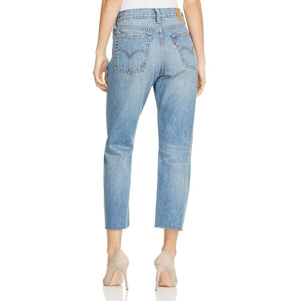 acfd40141efd6 Shop Levi s Womens Wedgie Fit Straight Leg Jeans Distressed High ...