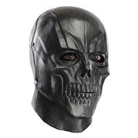 Adult Black Mask Deluxe Overhead Latex Halloween Mask - standard - one size