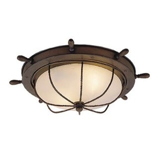 Vaxcel Lighting OF25515 Orleans 2 Light Flush Mount Outdoor Ceiling Fixture with White Frosted Glass Shade  sc 1 st  Overstock & 2 Lights Vaxcel Lighting Outdoor Lighting For Less | Overstock.com