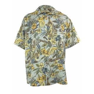 Caribbean Men's Silk Blend Havana Floral Shirt