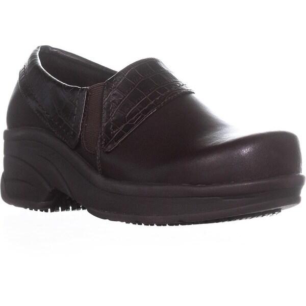 Easy Works by Easy Street Assist Wedge Loafers, Tan/Brown - 7 us