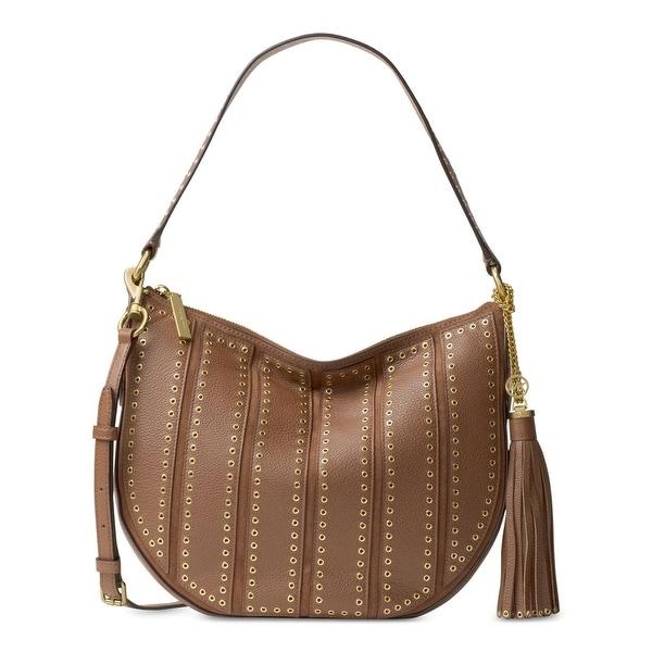 5f654fe12413a4 MICHAEL Michael Kors Womens Brooklyn Hobo Handbag Leather Convertible -  LARGE
