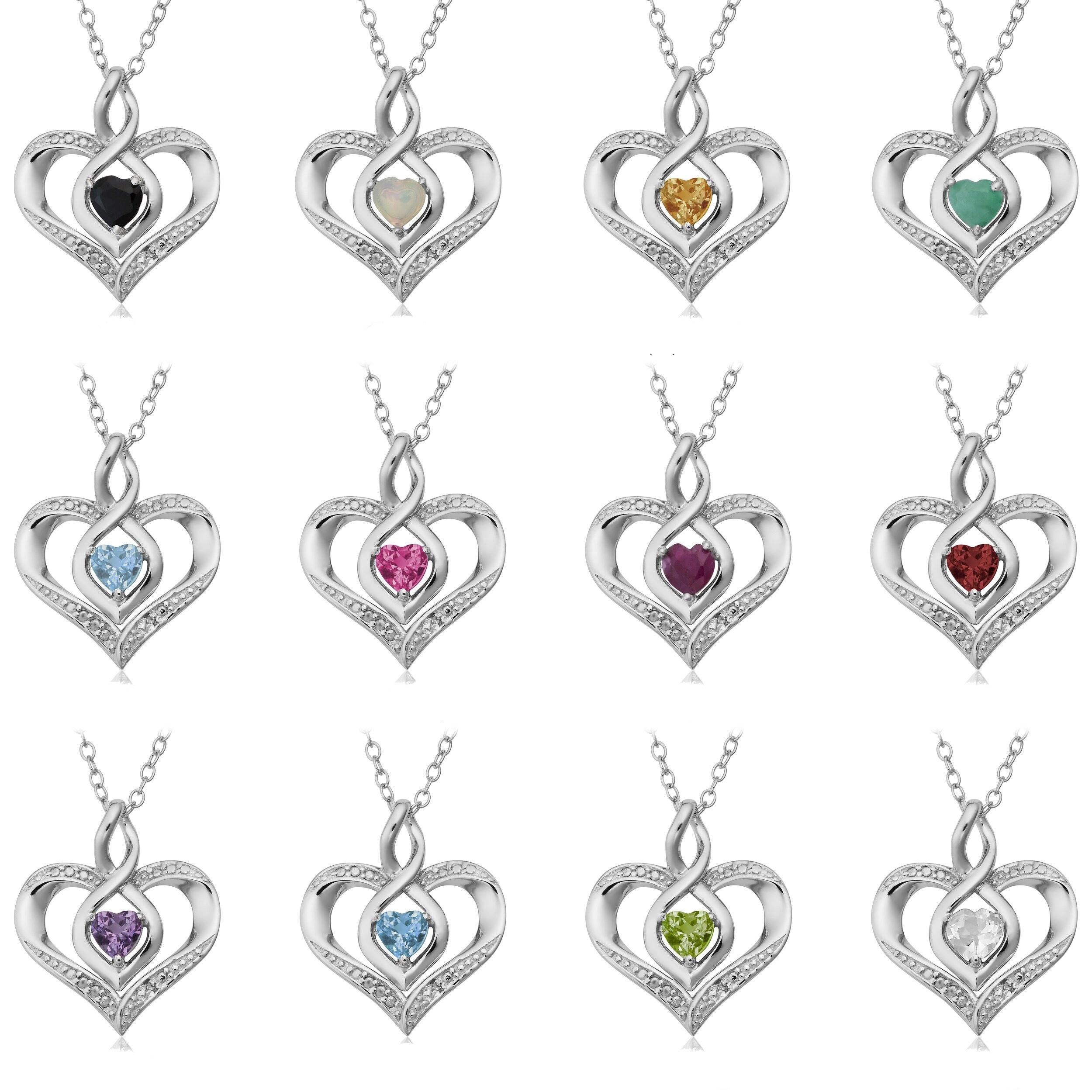 Sterling Silver Rhodium Plated Childs Preciosca Crystal Mar Heart Earrings