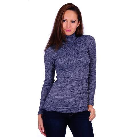 Simply Ravishing Women's Long Sleeve Stretchable Turtle Neck Sweater (Size: S-3X)