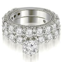 4.00 CT.TW Antique Round Cut Diamond Engagement Set,HI,SI1-2