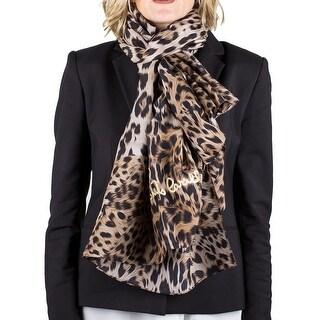 Roberto Cavalli Women's Cheetah Print Silk Scarf Sarong