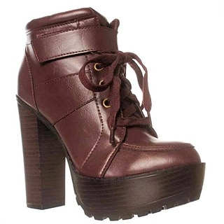 Leila Stone Stevvie Ankle Boots - Wine