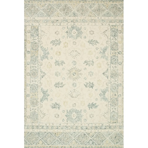 Alexander Home Annabelle Botanical Bloom Hand-Hooked Wool Rug