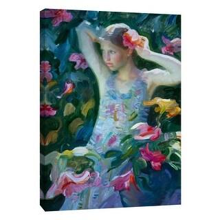 "PTM Images 9-105168  PTM Canvas Collection 10"" x 8"" - ""Garden Floral Arrangement"" Giclee Flowers Art Print on Canvas"