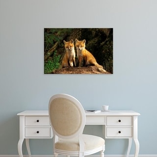 Easy Art Prints Adam Jones's 'Red Fox' Premium Canvas Art
