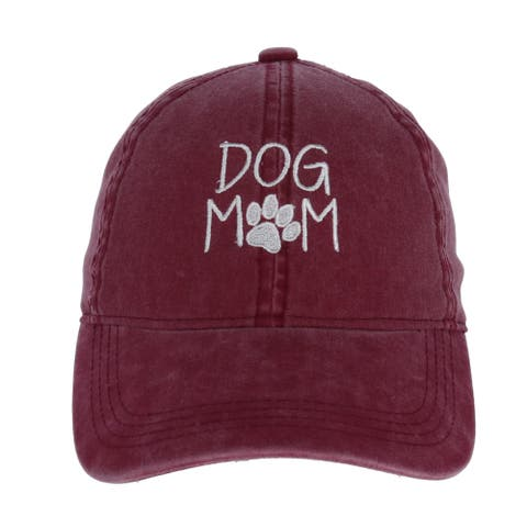 David & Young Women's Dog Mom Embroidered Baseball Cap