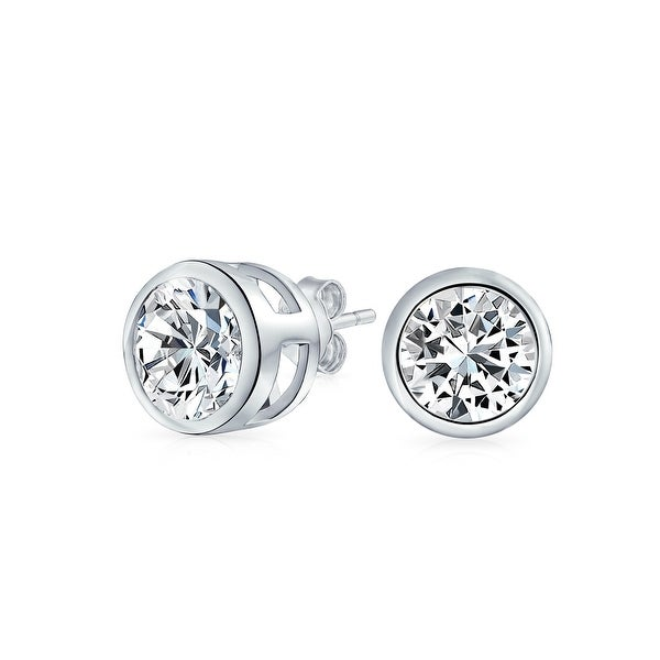 ff79f56f5 Shop 1 CTW Round Solitaire Cubic Zirconia Bezel Set Stud Earrings For Men  Women 925 Sterling Silver - On Sale - Free Shipping On Orders Over $45 -  Overstock ...