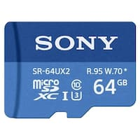 Sony SR-64UX2A/LT High Speed R95/W70 Max micro SD Memory Card (64GB) - BLue