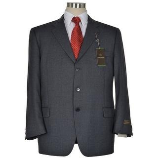 Joseph Abboud Signature Gray Wool Sportcoat 48 Regular 48R Houndstooth Blazer