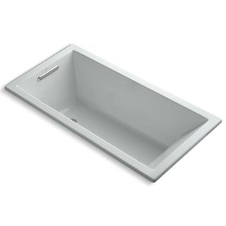"""Kohler K-1121 Underscore Collection 60"""" Drop In Deep Soaker Bath Tub with Slotted Overflow and Reversible Drain"""