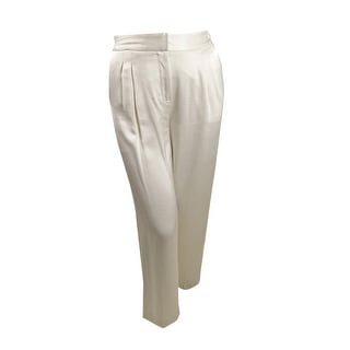 Link to Vince Camuto Women's Wide-Leg Satin-Trim Pants (10, Pearl Ivory) - 10 Similar Items in Intimates