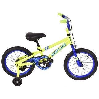 Costway 16'' Children Kids Bike Boy Girl Bicycle Training Wheels Toddler Ride Yellow