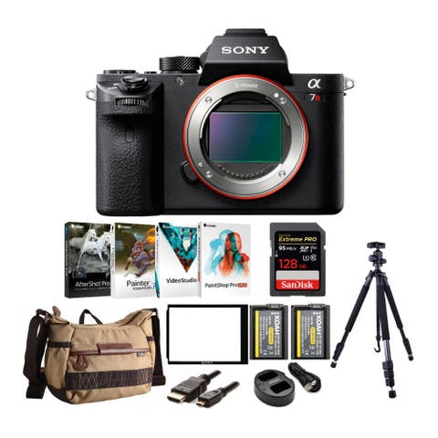 Sony Alpha a7RII Mirrorless Camera with Backpack and 128GB Card Bundle