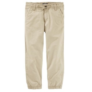 OshKosh B'gosh Big Boy's Twill Joggers, Khaki, 10 Kids