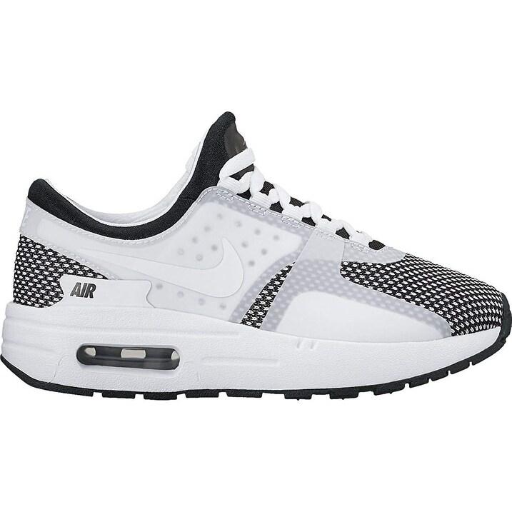 Nike Big Kids Nike Air Max Zero Essential (Gs) (black white wolf grey)