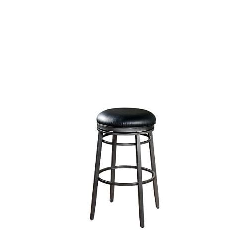 "American Heritage Billiards Silvano Counter Stool Silvano 26"" Tall Metal Frame Counter Stool - N/A"