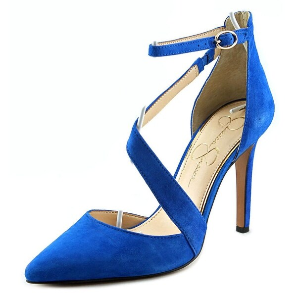 Jessica Simpson Castana Women Pointed Toe Suede Blue Heels