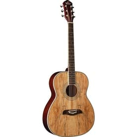 O S Spalted Parlor Size Acoustic Guitar