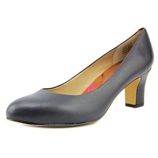 Ros Hommerson Valeda Women WW Open Toe Leather Blue Platform Heel
