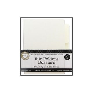 Canvas Corp File Folder Small Naked Ivory