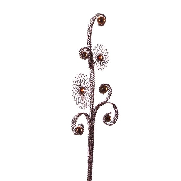 """Club Pack of 12 Brown Christmas Mesh Sprays with Jewels 26"""""""