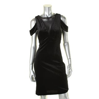 Nightway Womens Special Occasion Dress Velvet Cold Shoudler