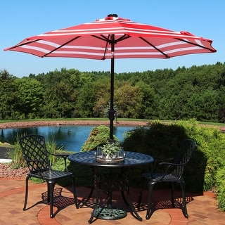 Shop Sunnydaze Solar Patio Umbrella Tilt And Crank 9