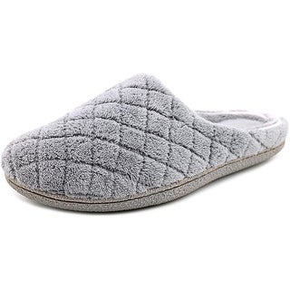 Dearfoams Terry Quilted Clog Women Round Toe Synthetic Gray Slipper