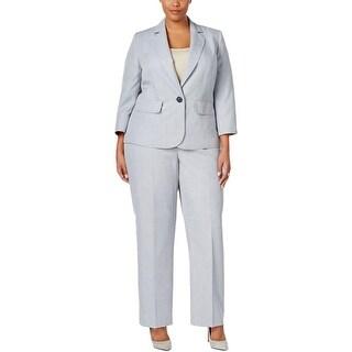 Le Suit Womens Plus Pant Suit 2 PC Pinstripe - 24W