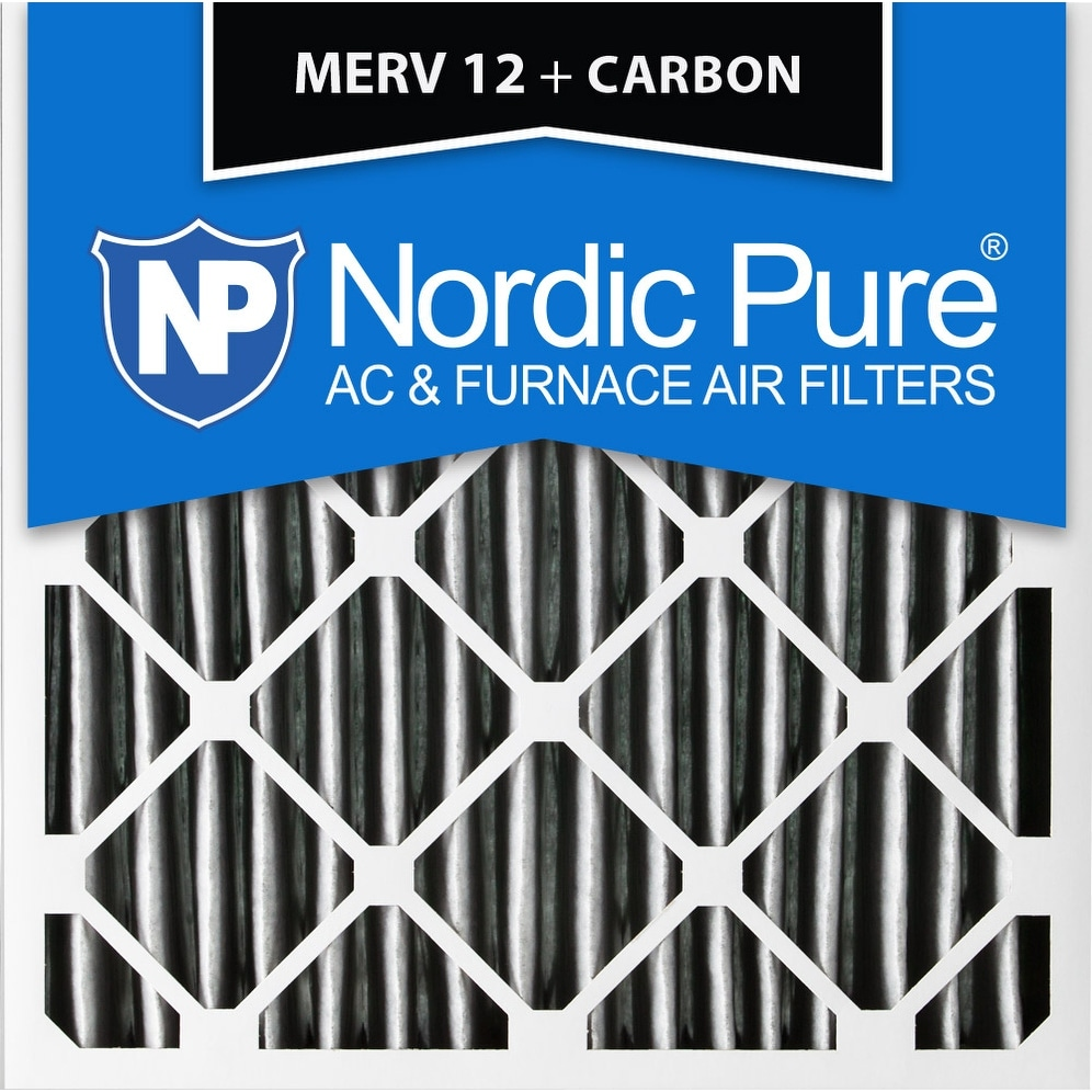 Nordic Pure 8x24x1 Exact MERV 10 Pleated AC Furnace Air Filters 6 Pack