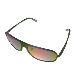 Vuarnet Extreme Mens VE 7005 Oval Polarized Aviator Sunglasses, Matte Bronze