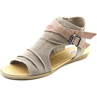 Not Rated Avana Women Open Toe Canvas Tan Gladiator Sandal