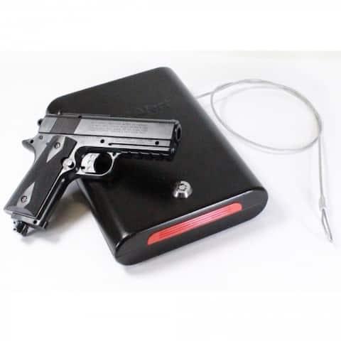 First Alert 5100K Portable Handgun Security Safe with Key Lock