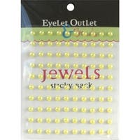 Eyelet Outlet EOB5-YEL Bling Self-Adhesive Pearls 5mm 100-Pkg-Yellow