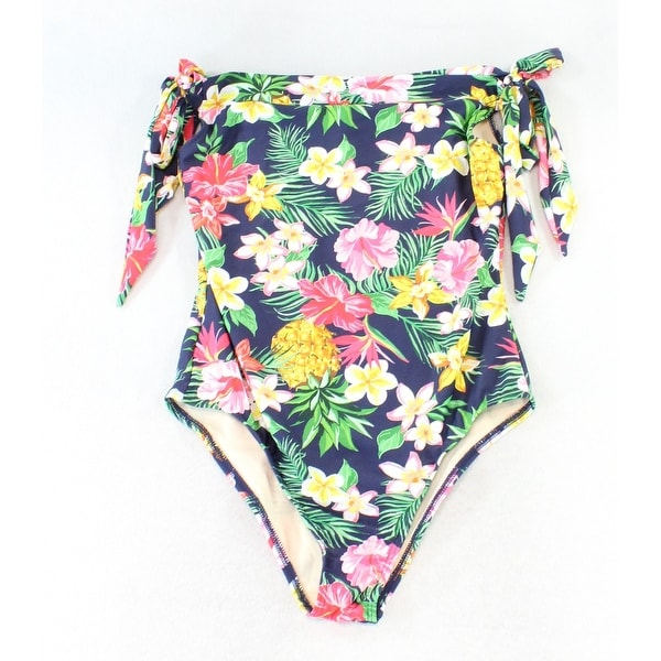 20f9591c27b Shop Unique Vintage Blue Women s Size Large L One-Piece Floral Swimwear -  On Sale - Free Shipping On Orders Over  45 - Overstock - 26920923