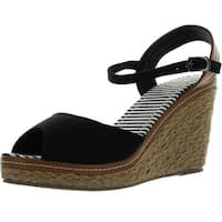 Refresh Bypass-01 Womens Ankle Strap Slingback Espadrille Wedge Sandals