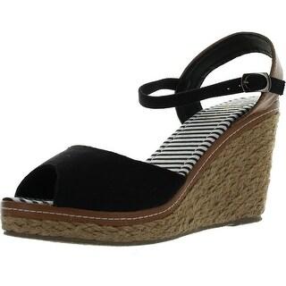 Refresh Bypass-01 Women's Ankle Strap Slingback Espadrille Wedge Sandal